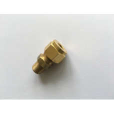 Brass compression solenoid fitting