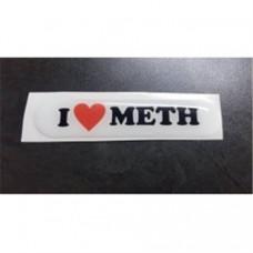 I Luv meth dome sticker